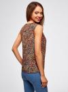 Топ с воланами и вырезом-капелькой на спине oodji для женщины (разноцветный), 11401265/47190/2955F - вид 3