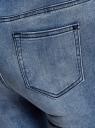 Джинсы skinny базовые oodji для женщины (синий), 12106138/45875/7000W