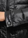 Куртка стеганая с круглым вырезом oodji для женщины (черный), 10203050-2B/47020/2900N - вид 5