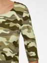 Платье трикотажное облегающего силуэта oodji #SECTION_NAME# (зеленый), 14001121-4B/46943/6025O - вид 5