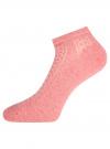 Комплект ажурных носков (3 пары) oodji #SECTION_NAME# (розовый), 57102702T3/48022/6