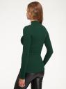 Водолазка базовая из хлопка oodji для женщины (зеленый), 15E11009B/48002/6900N
