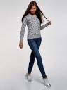 Свитшот принтованный с круглым вырезом oodji для женщины (серый), 14807021-1/46919/2029Q