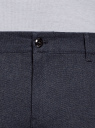 Брюки-чиносы из хлопка oodji для мужчины (синий), 2L150158M/48803N/7975O