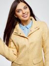 Пальто прямого силуэта из фактурной ткани oodji #SECTION_NAME# (желтый), 10104043/43312/5200N - вид 4