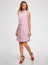 Платье хлопковое на кулиске oodji #SECTION_NAME# (розовый), 11901147-4B/45202/1045O - вид 6
