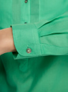 Рубашка хлопковая свободного силуэта oodji #SECTION_NAME# (зеленый), 11411101B/45561/6500N - вид 5