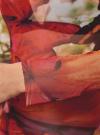 Блузка принтованная из прозрачной ткани oodji #SECTION_NAME# (оранжевый), 14211003/45401/5562U - вид 5