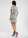 Платье вискозное без рукавов oodji #SECTION_NAME# (зеленый), 11910073B/26346/6062O - вид 3
