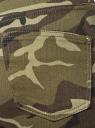 Джинсы милитари oodji для женщины (зеленый), 12103158-1/47415/6869W