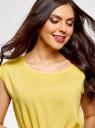 Платье вискозное без рукавов oodji #SECTION_NAME# (желтый), 11910073B/26346/5100N - вид 4