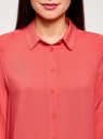 Блузка базовая из вискозы oodji #SECTION_NAME# (розовый), 11411136B/26346/4101N - вид 4