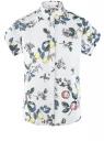 Рубашка прямого силуэта с коротким рукавом oodji #SECTION_NAME# (белый), 13L11021/49224/1250F