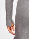 Платье вязаное с расклешенным низом oodji для женщины (серый), 63912223/46096/2500M - вид 5