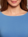 Платье трикотажное облегающего силуэта oodji #SECTION_NAME# (синий), 14001183B/46148/7501N - вид 4