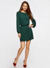 Платье из шифона с ремнем oodji для женщины (зеленый), 11900150-5B/32823/6900N - вид 2