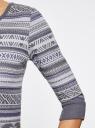 Платье жаккардовое с геометрическим узором oodji для женщины (фиолетовый), 14001064-5/46025/8023J