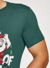 Футболка хлопковая с принтом oodji #SECTION_NAME# (зеленый), 5L621002I-3/44135N/6919P - вид 5