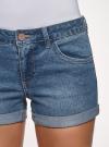 Шорты джинсовые базовые oodji #SECTION_NAME# (синий), 12807025-3B/46253/7500W - вид 4