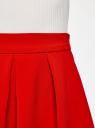 Юбка расклешенная со встречными складками oodji для женщины (красный), 11600396-1B/42250/4501N
