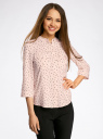 Блузка вискозная с регулировкой длины рукава oodji #SECTION_NAME# (розовый), 11403225-3B/26346/5429G - вид 2
