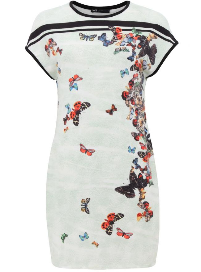 Трикотажное платье oodji для женщины (зеленый), 24008309/42898/6719U