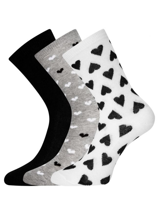 Комплект высоких носков (3 пары) oodji #SECTION_NAME# (разноцветный), 57102902T3/47469/45
