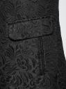 Пальто прямого силуэта из фактурной ткани oodji #SECTION_NAME# (черный), 10104043/43312/2900N - вид 5