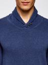 Пуловер прямого силуэта с воротником шалькой oodji #SECTION_NAME# (синий), 4L212143M/21655N/7400M - вид 4