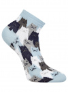 Комплект из шести пар хлопковых носков oodji для женщины (синий), 57102418-5T6/48418/14 - вид 3