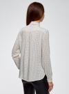Блузка вискозная с завязками oodji #SECTION_NAME# (белый), 11411169/24681/1229D - вид 3