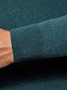 Пуловер базовый с V-образным вырезом oodji для мужчины (зеленый), 4B212007M-1/34390N/6901M