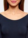Комплект платьев с вырезом-лодочкой (3 штуки) oodji #SECTION_NAME# (синий), 14017001T3/47420/7900N - вид 4
