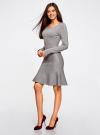 Платье вязаное с расклешенным низом oodji для женщины (серый), 63912223/46096/2500M - вид 6