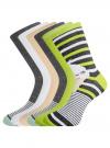 Комплект высоких носков (6 пар) oodji #SECTION_NAME# (разноцветный), 57102902T6/47469/41 - вид 2