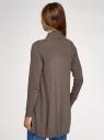 Кардиган вязаный без застежки oodji для женщины (коричневый), 73212398B/45641/3900M