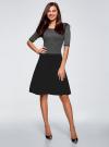 Платье с люрексом и расклешенной юбкой oodji для женщины (черный), 63912215/42963/2900X - вид 2