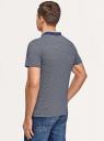Поло хлопковое с вышивкой oodji для мужчины (синий), 5L412333M/49922N/7975S