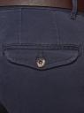 Брюки-чиносы хлопковые oodji для мужчины (синий), 2B150027M/39622N/7500N
