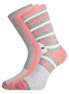 Комплект высоких носков (3 пары) oodji #SECTION_NAME# (разноцветный), 57102902T3/47469/20 - вид 2