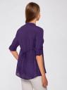 Туника с V-образным вырезом oodji для женщины (фиолетовый), 21412068-2/19984/8300N