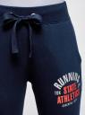 Брюки трикотажные с принтом и завязками oodji #SECTION_NAME# (синий), 16701040/42484/7912P - вид 4