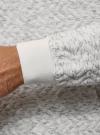 Худи фактурная с карманом oodji #SECTION_NAME# (серый), 5L111035M/47770N/1200M - вид 5