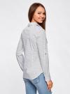 Рубашка базовая с нагрудными карманами oodji #SECTION_NAME# (белый), 11403222B/42468/1029G - вид 3