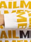 Джемпер вязаный жаккардовый с надписями oodji #SECTION_NAME# (желтый), 63807360/49867/1052O - вид 5