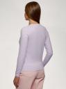 Джемпер вязаный с ромбами oodji для женщины (фиолетовый), 63810238-1/49316/8010R