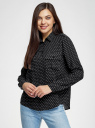 Блузка базовая из вискозы с нагрудными карманами oodji #SECTION_NAME# (черный), 11411127B/26346/2912G - вид 2