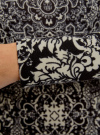 Платье трикотажное с этническим принтом oodji #SECTION_NAME# (черный), 24001070-4/15640/2933E - вид 5