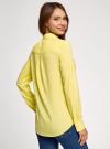 Блузка с нагрудными карманами и регулировкой длины рукава oodji #SECTION_NAME# (желтый), 11400355-3B/14897/6700N - вид 3
