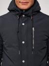 Парка с капюшоном и карманами oodji #SECTION_NAME# (синий), 1L422005M/46215N/7900N - вид 4
